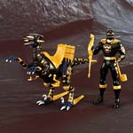 aba black ranger & black raptor set