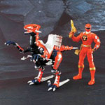 aba red ranger & red raptor set