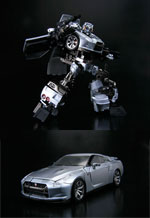 alternity a-01 convoy feat gtr nissan metal silver